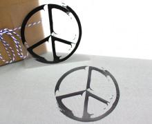 1 Bügelbild - Peacezeichen - Schwarz II- Aufbügler
