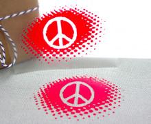 1 Bügelbild - Peacezeichen - Schablone - Aufbügler