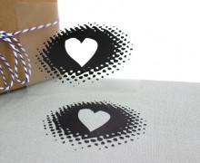 1 Bügelbild - Herz - Schablone - Heart - Aufbügler