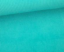 Cord mit breiter Struktur - Breitcord - Aqua