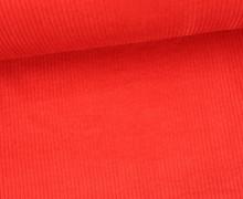 Cord mit breiter Struktur - Breitcord - Rot