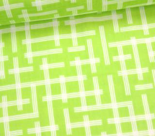 Stoff - Framework - Grün / Weiß - Kokka