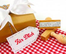 Stempel - Für Dich - Holzstempel - Geschenkstempel