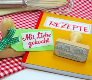 Stempel - Mit Liebe gekocht - Holzstempel