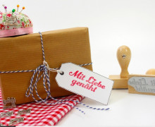 Stempel - Mit Liebe genäht - Holzstempel - Nähen