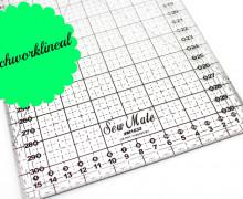 Patchworklineal 16cm x 32cm - Schwarz -Quiltlineal
