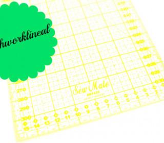Patchworklineal 16cm x 32cm - Gelb -Quiltlineal