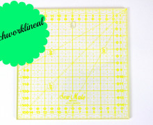 Patchworklineal 16cm x 16cm - Gelb -Quiltlineal
