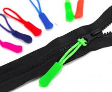 1 Zipper Schlaufe - Reißverschluss Anhänger - Grün