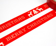 1 Rolle Masking Tape - Merry Christmas -Stickoptik