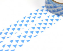 1 Rolle Masking Tape - Dreiecke - Hellblau