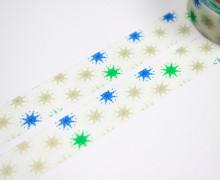 1 Rolle Masking Tape - Eiskristalle - Gold / Blau