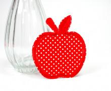 Aufbügler - Stoff - Apfel - Apple - Rot