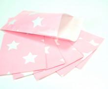 6 Papiertüten - Klein - Rosa - 7,5cm x 13cm