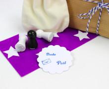 3 Mini Stempel Set - Post, Brief & Danke