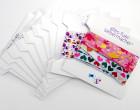 10 Wickelpäppchen - Webbandpappen - Kartonkarten