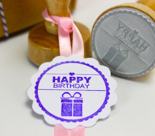 Happy Birthday - Stempel - Geburtstagsstempel