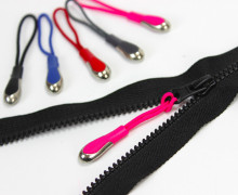 1 Zipper Schlaufe - Reißverschluss Anhänger Pink