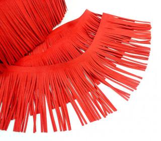 1 Meter Fransenband - Fransenborte - Wildlederoptik - Rot