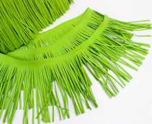 1 Meter Fransenband - Fransenborte - Wildlederoptik - Hellgrün