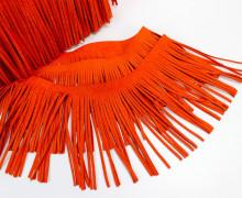 1 Meter Fransenband - Fransenborte - Wildlederoptik - Orange