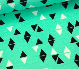 Sweat - Triangles in Mint - Andrea Lauren