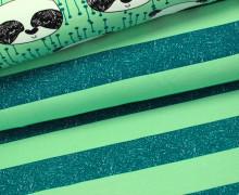 Sweat -Grafische Blockstreifen - Grün-Petrol - 5cm