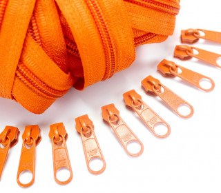 2m Endlosreißverschluss *S+10 Zipper Orange (158)