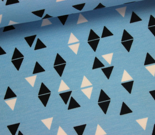 Sweat - Triangles in Aqua - Andrea Lauren