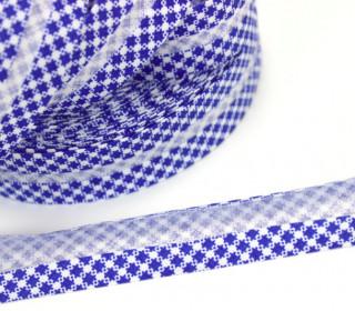 3m x 20mm Schrägband - Vichy - Blau