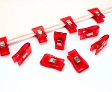 10 Stoffklammern - Quilt Clips - Klammern - Rot