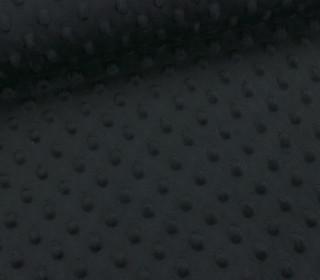 Minky - Microfaser-Plüsch - Dots - Punkte - Schwarz