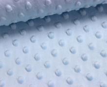 Minky - Microfaser-Plüsch - Dots - Punkte - Hellblau