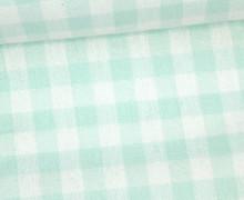 Vichy Stoff - Große Karos - Bauernkaros - 10mm x 11mm - Mint