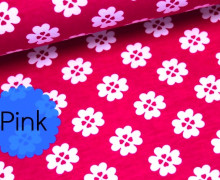 2. Wahl Jersey Sunshine - Kleeblatt - Klee - Pink  (Mengeneinheit: 0,5m).