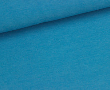 Jersey - Melange - Uni - Cyanblau Meliert