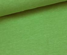 Jersey - Melange - Uni - Maigrün Meliert