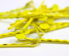 10 Haarnadeln mit Pin- Hair Clip - Spangen - Gelb