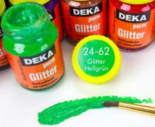 Textilfarbe - DEKA - GLITTER Hellgrün - 24-62 (Mengeneinheit: 25ml).