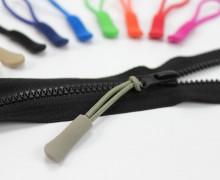 1 Zipper Schlaufe Reißverschluss Anhänger Grau