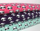 Jersey - Panda Girl mit Schleife - Violett