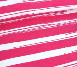 Jersey - Painted Stripes - Pink - Nancy Kers
