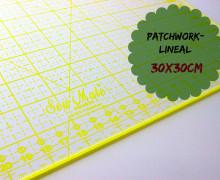 Patchworklineal 30cm x 30cm - Gelb -Quiltlineal.