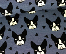 Sweat - GOTS - Boston Terrier - Blaugrau - Andrea Lauren