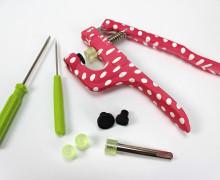 Druckknopf Happy Snap Zange und Zubehör - Pink