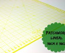 Patchworklineal 38cm x 38cm - Gelb - Quiltlineal.