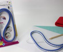 Kurvenlineal - Flexibel - 60cm - Blau