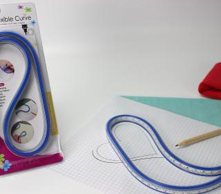 Kurvenlineal - Flexibel - 60cm - Blau (Mengeneinheit: 1piece).
