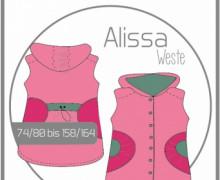 Schnittmuster - Alissa Weste Gr.74-164 - Ki-Ba-Doo