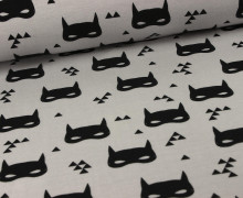 Jersey - GOTS - Bat Mask - Grau - Andrea Lauren